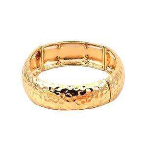 Tigerstars Dazzling Gold Stretchy Cuff Bracelet